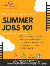 Summer Jobs Summer Jobs 101 For Youth Settlement Calgary