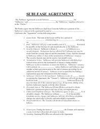 Basic Sublet Agreement Sublease Contract Template Ninjaturtletechrepairsco 15