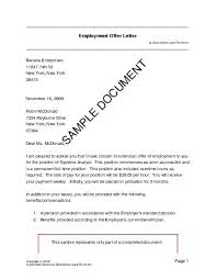 Sample Of Offer Letter For Employment Employment Offer Letter Usa Legal Templates Agreements