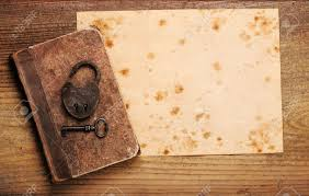 old paper background texture with book and old key stock photo 12274065