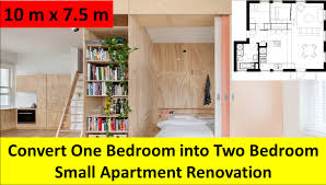 convert one bedroom into two bedroom small apartment renovation