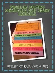 How To Create A Flip Chart Problem Solving Strategies Flip Chart Editable