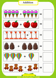 Collection of Visual addition worksheets kindergarten | Download ...