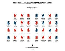 Senate Floor Seating Chart Seating Charts The Texas Tribune