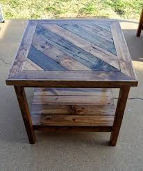 wood end tables. 14. Patio Diy Wooden End Table Wood Tables