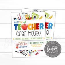 Now Open Flyer Template Editable Meet The Teacher Open House Flyer Pto Pta Open