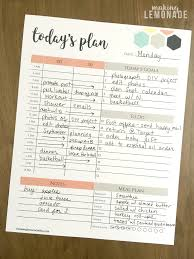 plan daily schedule the one printable i cant function without free daily planner