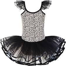 Details About Us Stock Girls Dress Cute Tutu Dancing Leopard Print Ball Size 2 8