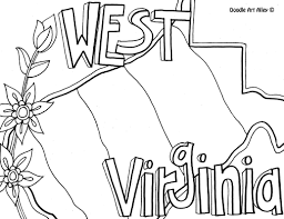 Small Picture West Virginia Coloring Page by Doodle Art Alley USA Coloring