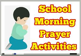 school morning prayer activity