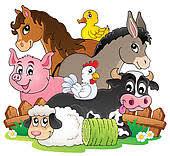 domestic animals clipart. Unique Domestic Farm Animal Vector Design Elements Animals Topic Image 2 For Domestic Animals Clipart E