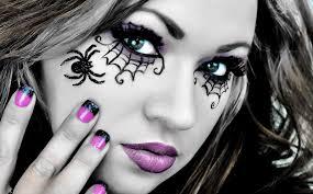 spider web eyes makeup for