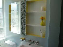 Wood Medicine Cabinet With Mirror Bathroom Mirrored Recessed Medicine Cabinets Mirrored Medicine