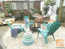 ideas pea gravel backyard makeover with color and comfort pea gravel patio with fire pi