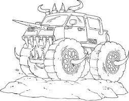 Small Picture monster truck coloring pages for boys coloring pages for kids
