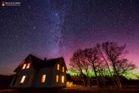 Northern Lights Maine Northern Lights Captured As They Light Up The Sky Over Maine