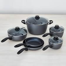 swiss diamond cookware.  Swiss Swiss Diamond Nonstick 10Piece Cookware Set Inside T