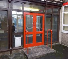 school doors. This Project Was To Fully Re Paint The External Areas Of School.The Works Included All Previously Painted Windows, Masonry, Facia, Doors, School Doors E