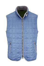 Waterville - Light Blue Box Quilted Nylon Vest | Mitchell Stores & Light Blue Box Quilted Nylon Vest Adamdwight.com