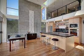 современный четырехэтажный дом на склоне в виде башни Modern Kitchen Design Kitchen Design Open Small Kitchen Design Layout