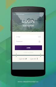 Login Screen Design Android Android Travel App Login Screen On Behance