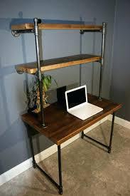 computer desks with shelves computer desk shelving unit computer desk shelves reclaimed wood in lower computer