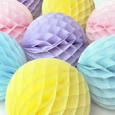 Paper Ball Decorations Instructions Tissue Paper Honeycomb Ball Decoration Ball decorations 2