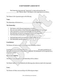 A business contract is a legal agreement between a buyer and seller of goods or services. Free Partnership Agreement Free To Print Save Download