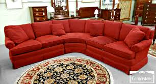 round sectional sofa bed. Furniture Contemporary Red Curved Sectional Sofa With Pattern Round Bed