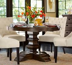 pottery barn style dining table:  banks extending pedestal dining table o