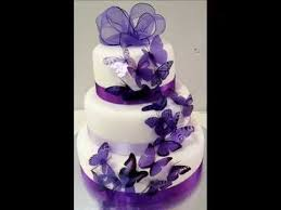 Diy Purple Butterfly Wedding Cakes Youtube