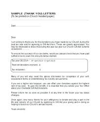 Fundraising Thank You Letter Templates Church Donation Thank You Letter Template Free Best Donor