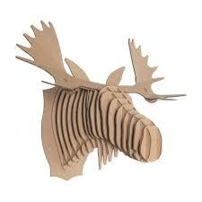 cardboard safari fred the moose brown 20 x24 x19