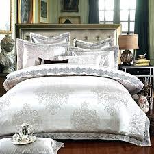 king size duvet covers duvet covers king size white silver color jacquard luxury bedding sets