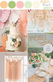 peach wedding colors. Color Story Peach Loves Green The Perfect Palette