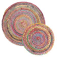 rainbow braided round rugs previous
