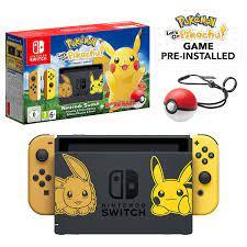 Nintendo Switch Let's Go Pikachu Limited Edition Console with Joycon,  Pre-Installed Pokémon: Let's Go Pikachu + Pokeball Plus Controller (UK  Version) : Amazon.de: PC & Video Games