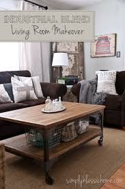 industrial style living room furniture. industrial contry design yellow bliss road blend living room makeover reveal style furniture o