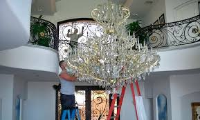 crystal chandelier cleaner cleaning