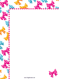 Small Picture ColorfulBowsPartyBorderpng
