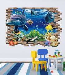 3d effect finding nemo wall stickers