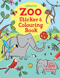zoo sticker and colouring book sticker and colouring books paperback
