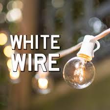 white wire globe string lights