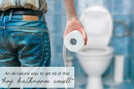 an all natural method to get rid of that boy bathroom smell