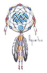Zodiac Dream Catcher Simple Zodiac Aquarius Dream Catcher Tattoo Design Tattooshunt