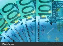 © Financial Photo Wallpaper Banknote Malven Stock Hundred Abstract Euros — Background 198166402 Fragment