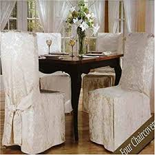 luxury woven jacquard dining room chair covers. luxury woven jacquard dining room chair covers (4 pk) amazon uk