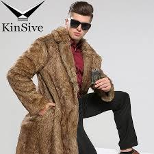 2019 luxury faux fur coat men winter jackets long faux leather trench coat brand clothing men overcoats outwear windbreaker s 3xl from splendid99
