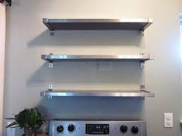 Stainless Steel Kitchen Shelves Wall Mounted