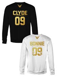 bonnie and clyde couple t shirts acirc the gun flower edition bonnie and clyde crewneck sweatshirt acirc152133 the golden collection acirc152133 couples sweatshirts couple sweats